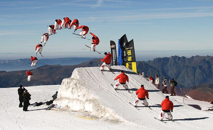 Het snowpark bij Les Deux Alpes is een fantastische speeltuin