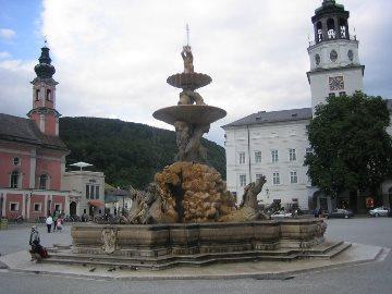 De fontein op Residenzplatz