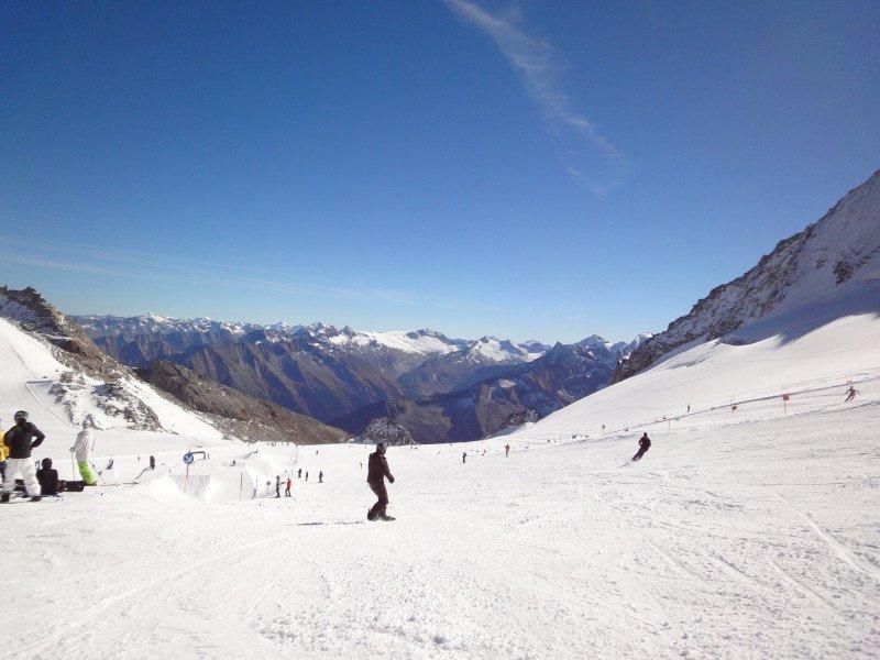 Zomerskiën in de Alpen