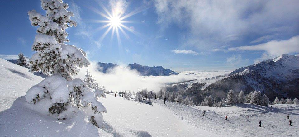 Genieten van de witte poedersneeuw in Val di Sole