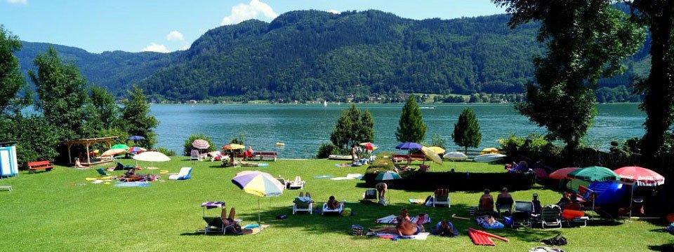 Zonnebaden aan de Ossiacher See