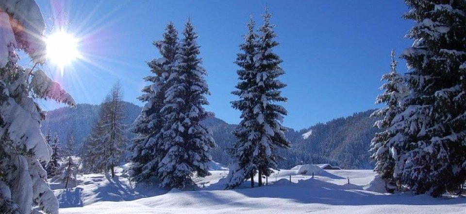 De witte wereld van de vallei