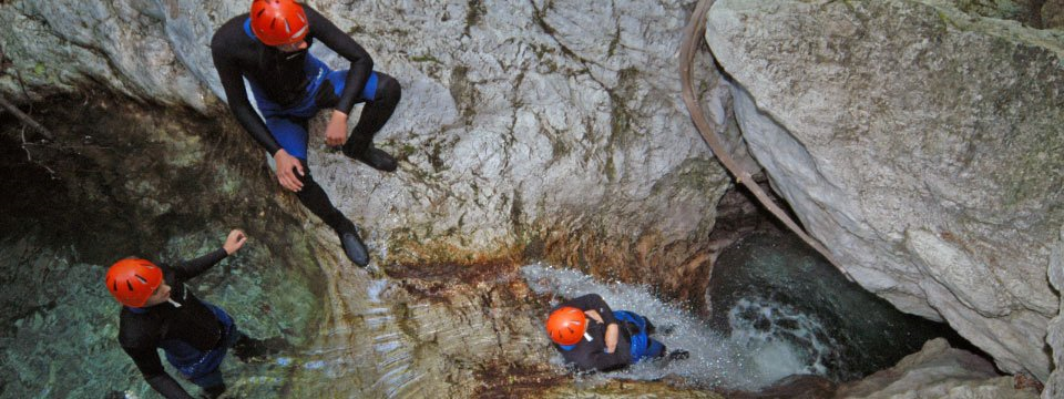 Canyoning in de vallei