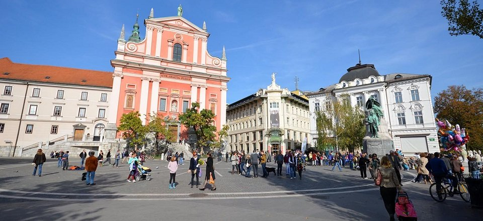 De Franciscaner Annunciatiekerk in Ljubljana