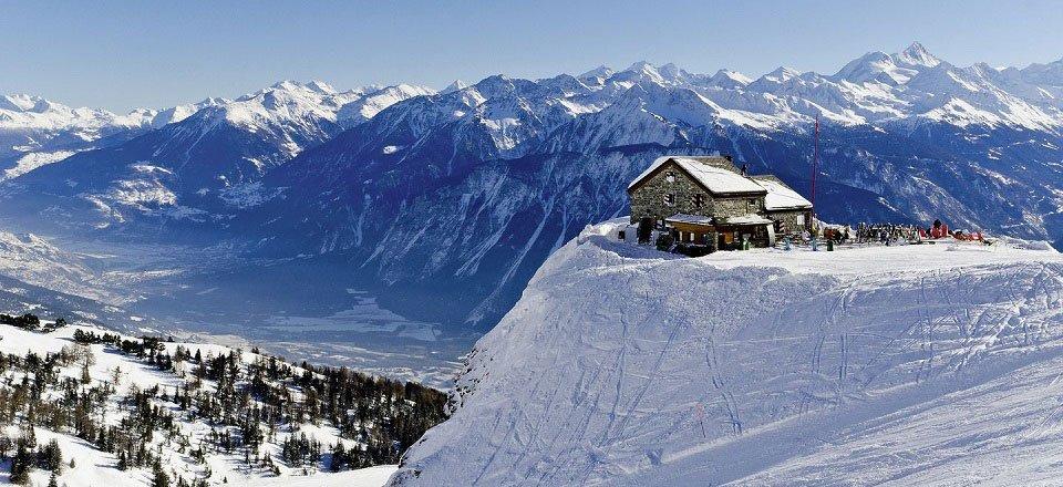 Wintersport in het Zwitserse Wallis