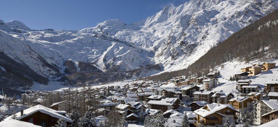 Saas Fee in de Zwitserse Alpen