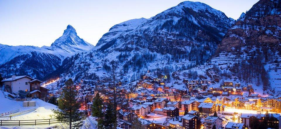 Wintersport in Zermatt - Täsch