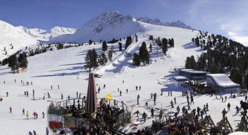 De witte, Oostenrijkse Alpen