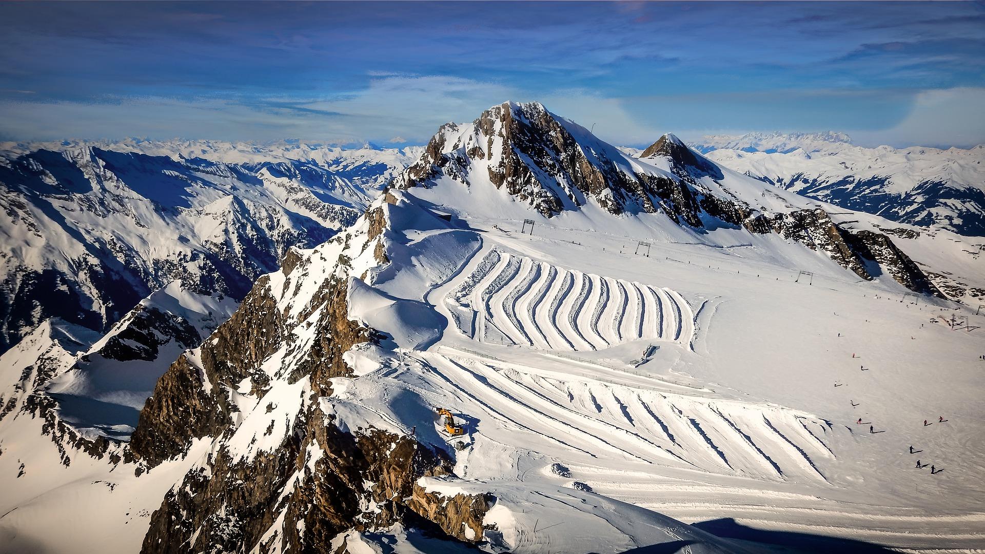 De sneeuwzekere Kirzsteinhorn gletjser
