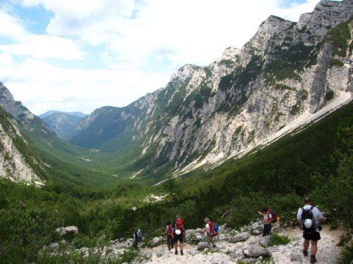 wandelaars in bergen