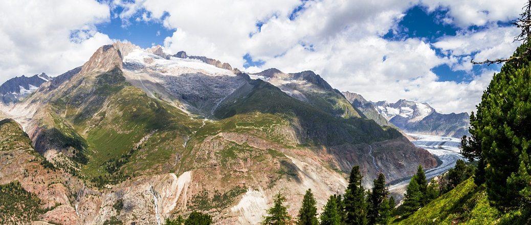 Berglandschap met gletsjer