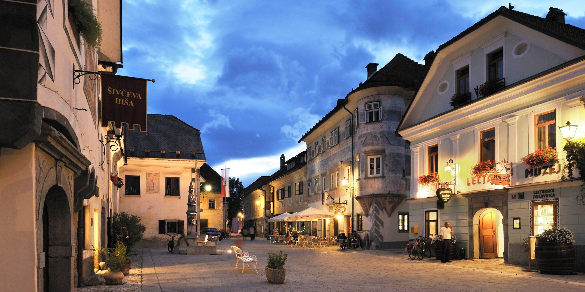 Het oude centrum van Radovljica
